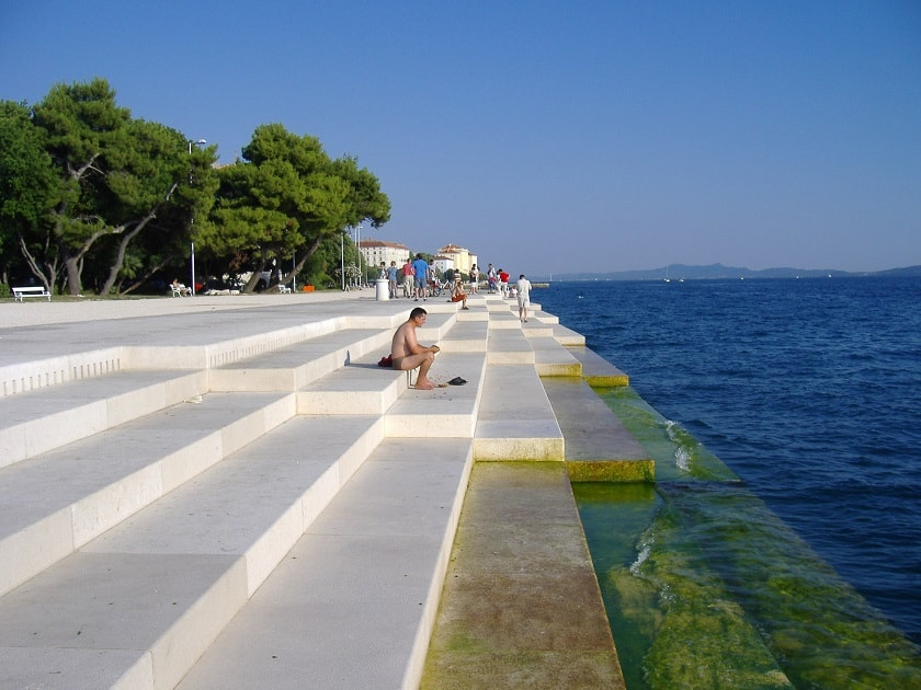 At the steps in Zadar