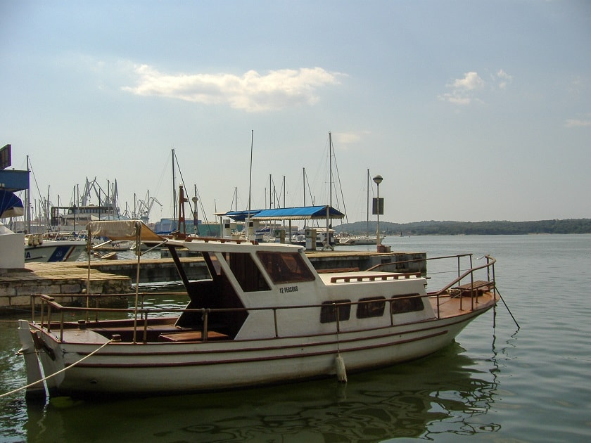 Boats in Pula harbour