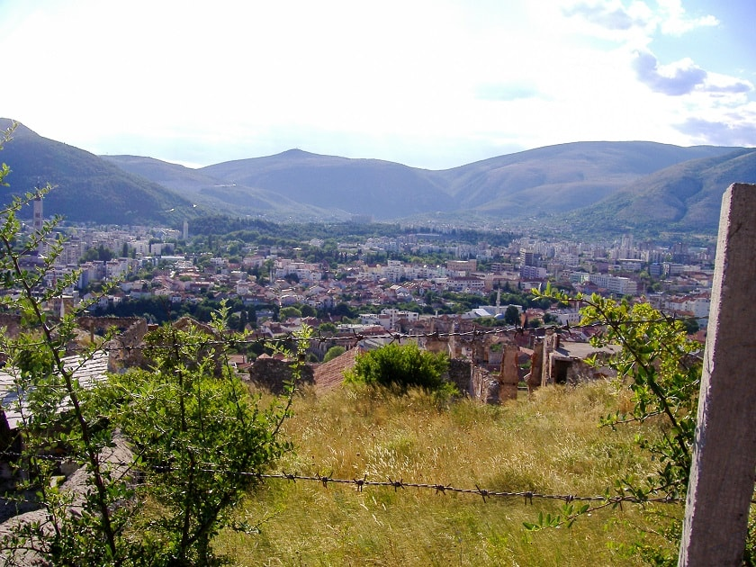 View of Mostar from Orthodox Church