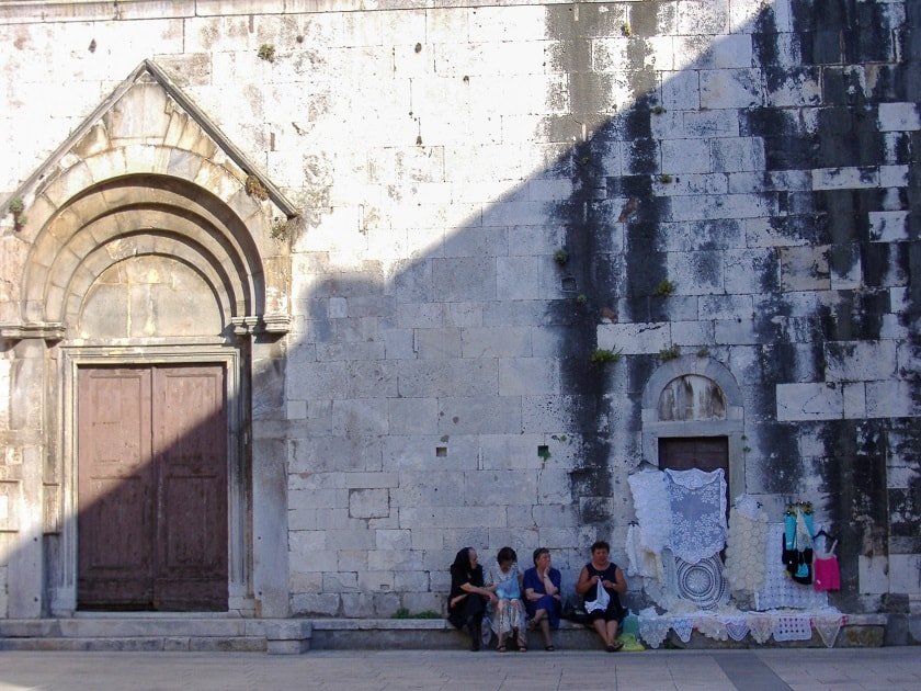 Women at the Church in Zadar