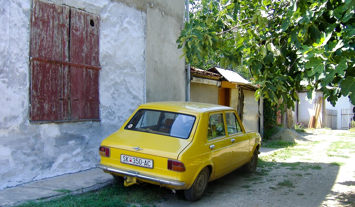 Yellow Lada in Skopje