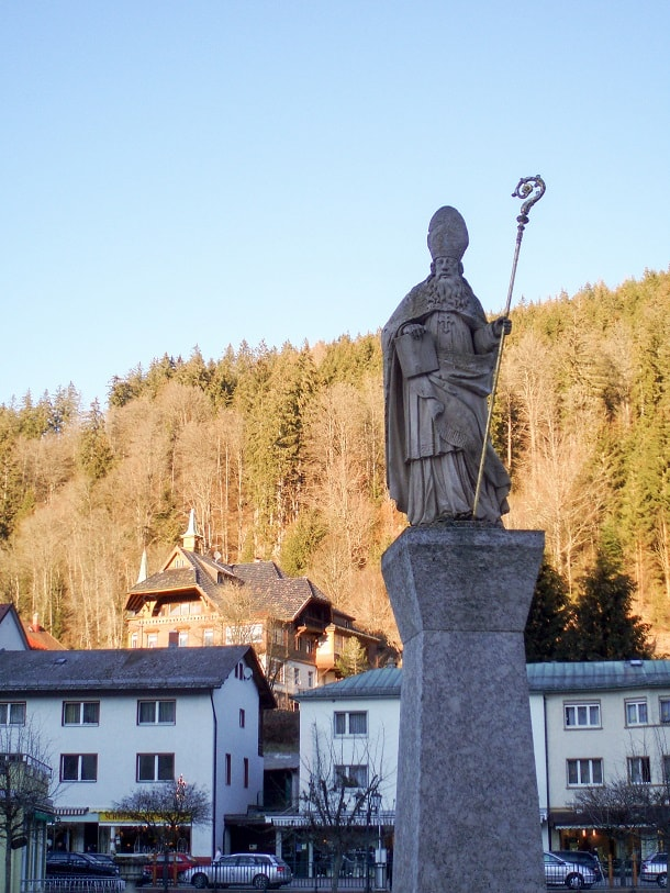 Statue of St. Blasius at the Domplatz in St. Blasien