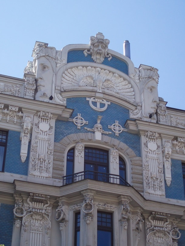 Art Noveau building in Riga
