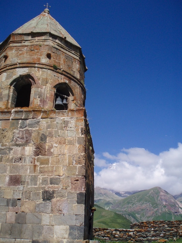 The church tower of Tsminda Sameba