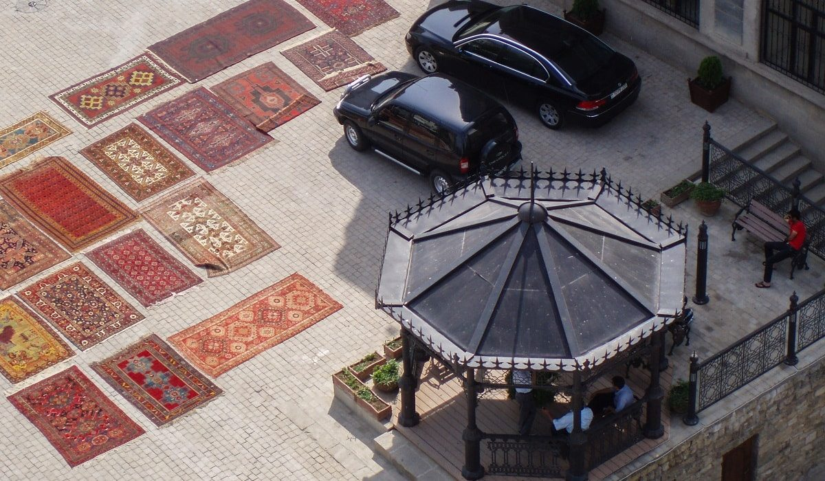Carpets and cars in Baku