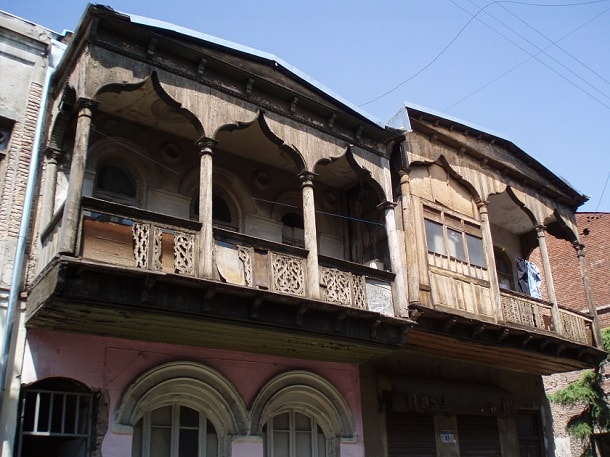Old balconies in Tbilisi