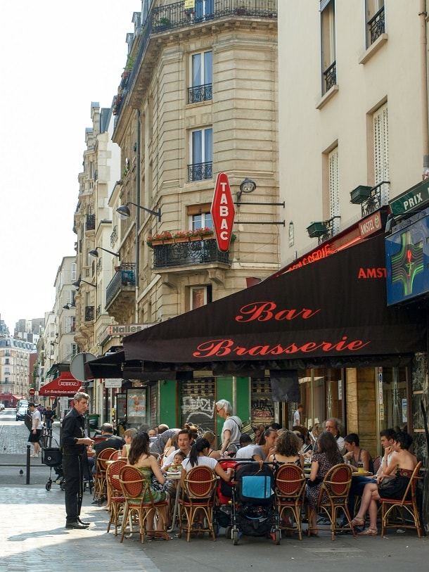 Bar and Brasserie on Place Charles Bernard in the 18th