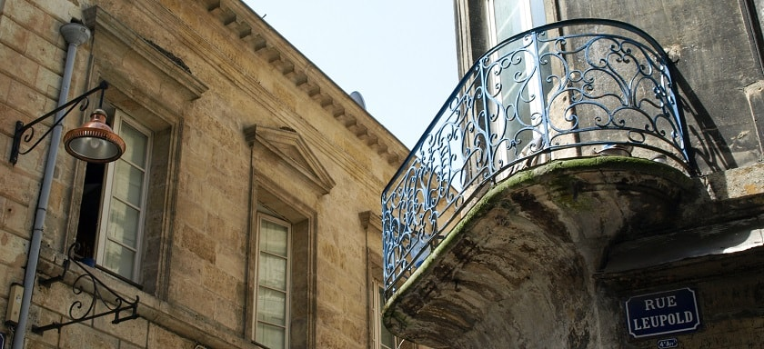 Beautiful balcony in Bordeaux