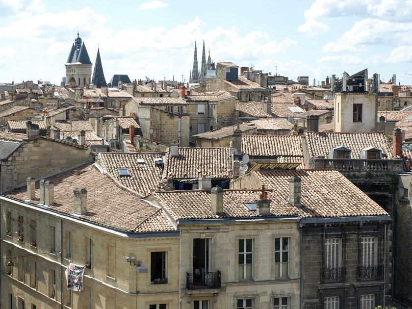 Bordeaux seen from the belltower of Saint-Michel Basilica