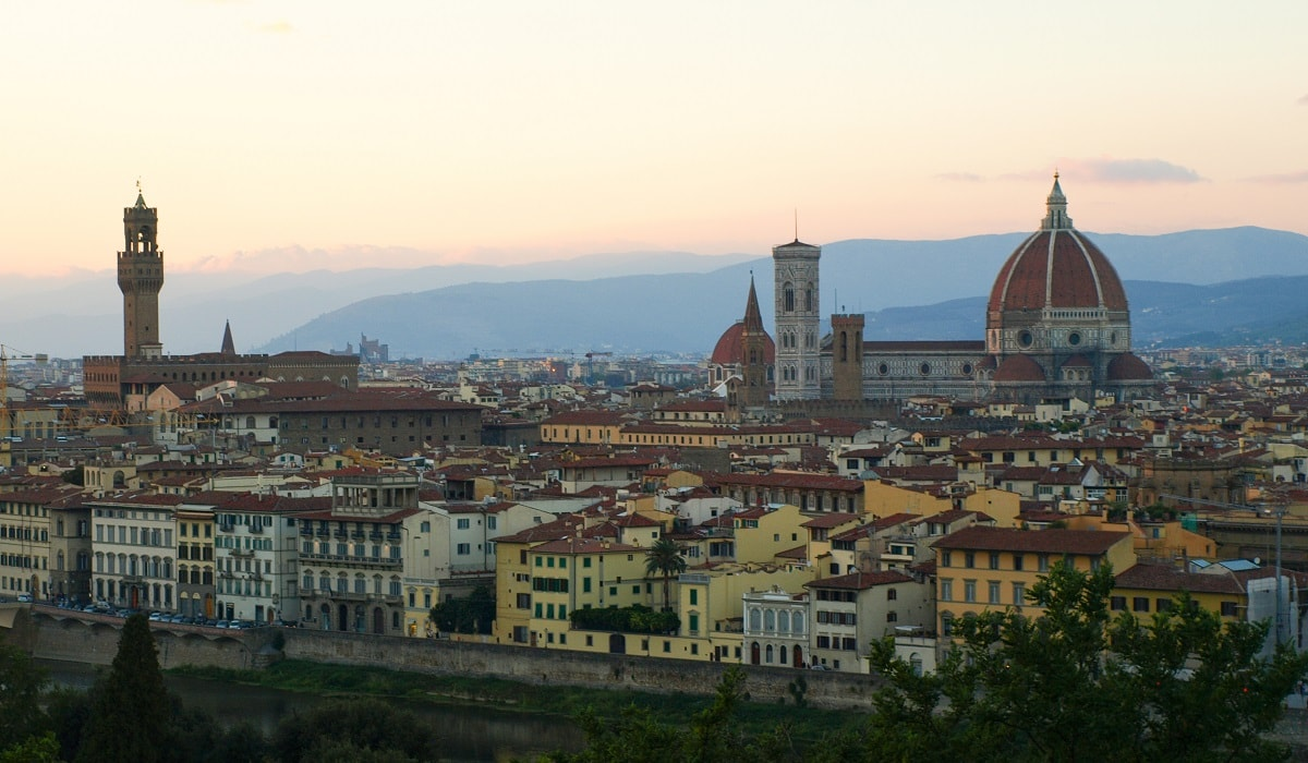 Florence in the evening featured