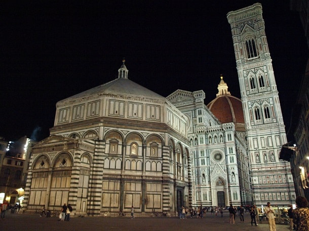 The Baptistery of St. John at night