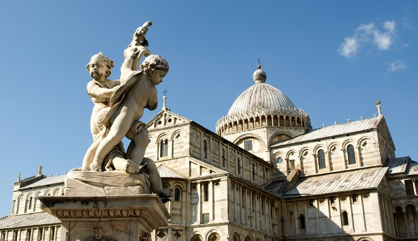 The Putti Fountain in front of the Cathedral of Pisa