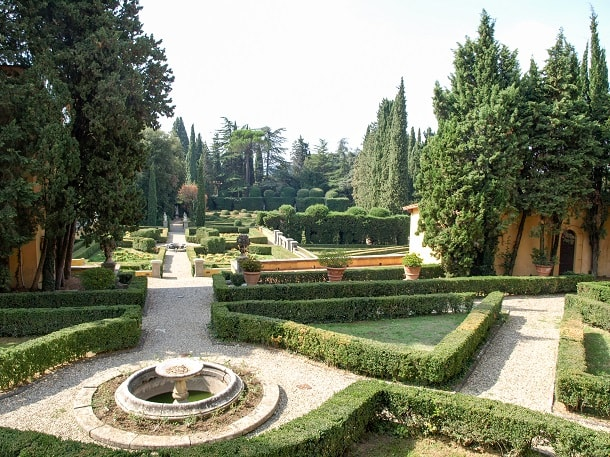 The beautiful garden in front of Badia Fiesolana