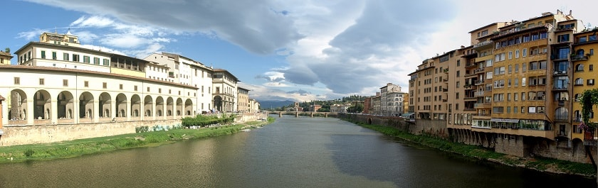 View from Ponte Vecchio to the West