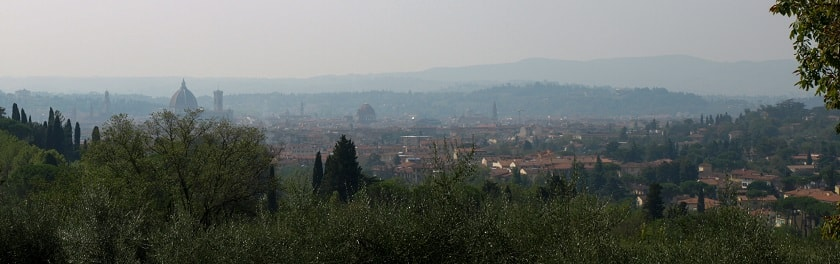 View of Val d'Arno from Fiesole
