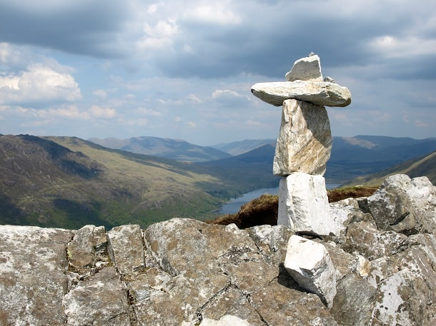 Cairn in the shape of a cross