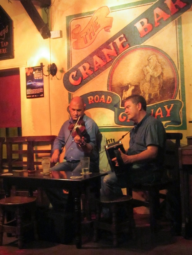 Folk music at the Crane Bar