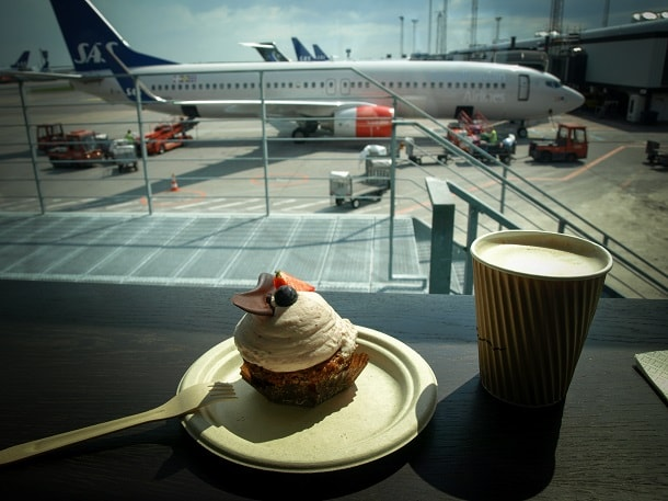 The mandatory coffee and cake at CPH before getting locked in a cramped room