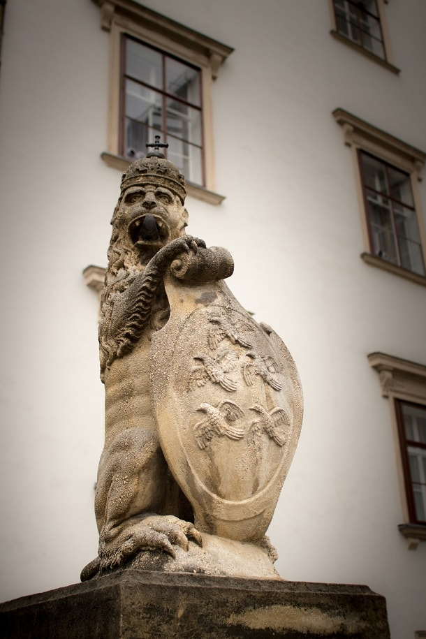 Lion statue at Hofburg Palace