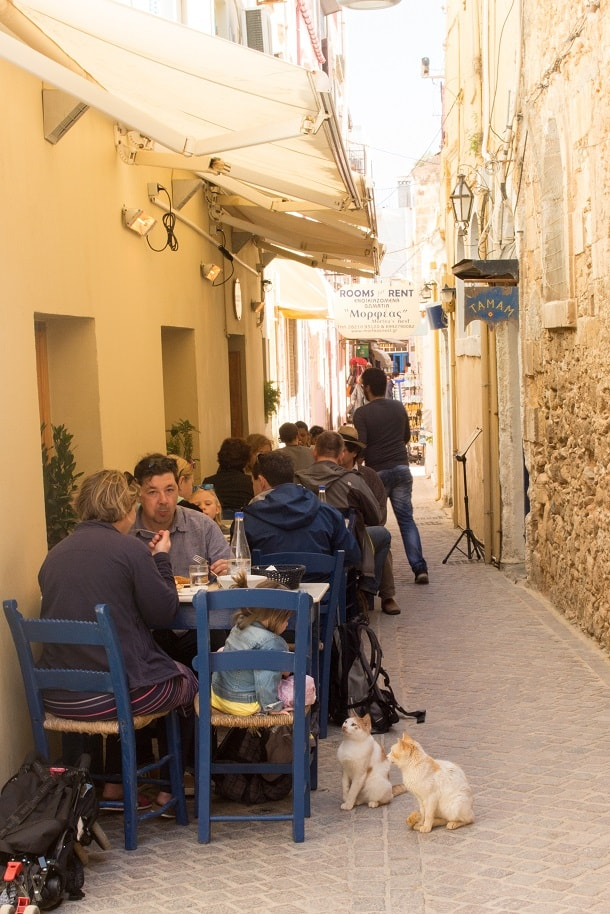 Lunch time in Chania