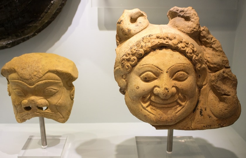 Masks at the Archaeological Museum in Heraklion