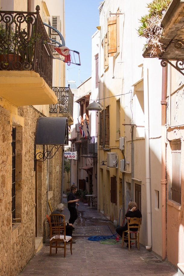 Spring cleaning in Chania