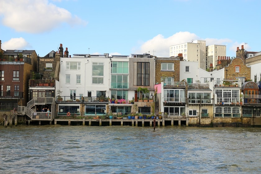 Residential housing near Canary Wharf and Limehouse