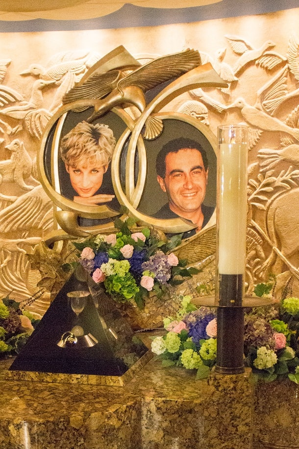 Harrods alter to Lady Diana and Dodi Fayed