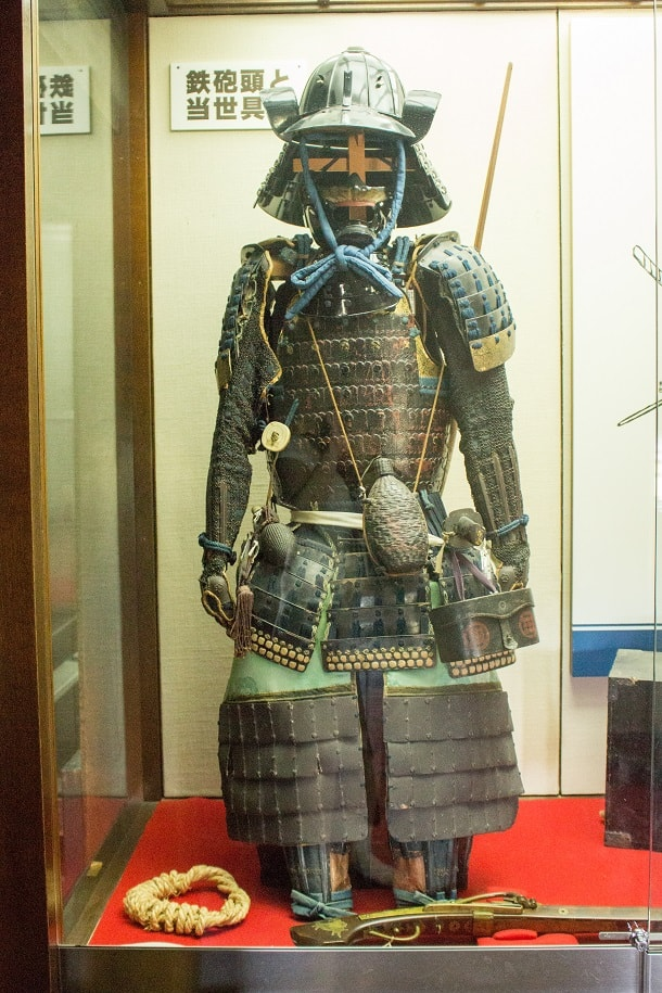Full samurai armour at Matsumotojo