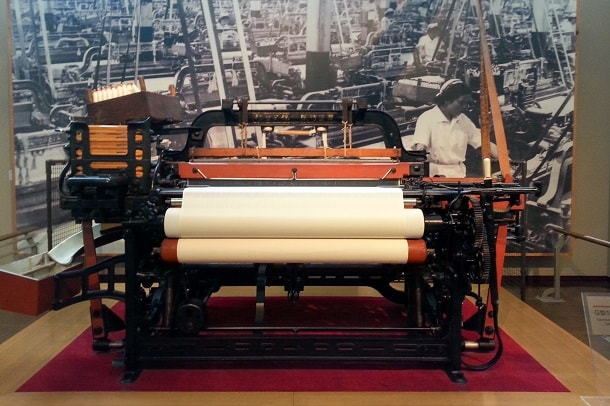 Loom for weaving at Toyota Commemorative Museum of Industry and Technology