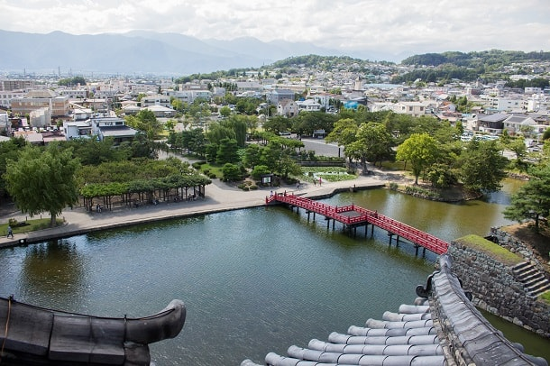 View from the top of Matsumotojo