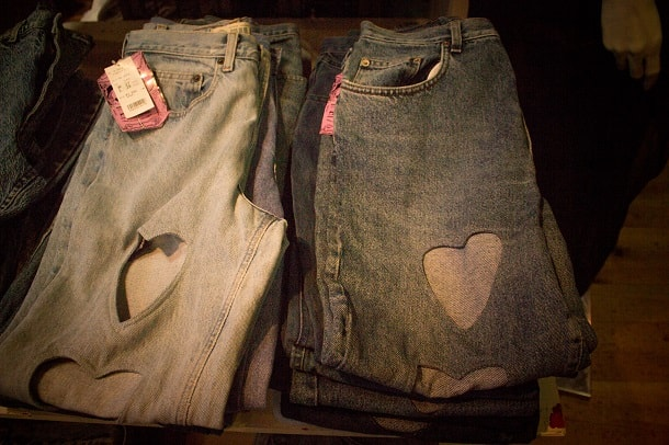 Jeans of heart