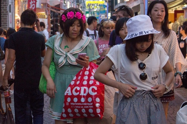 All ages can dress for cuteness at Entrance to Takeshita Dori