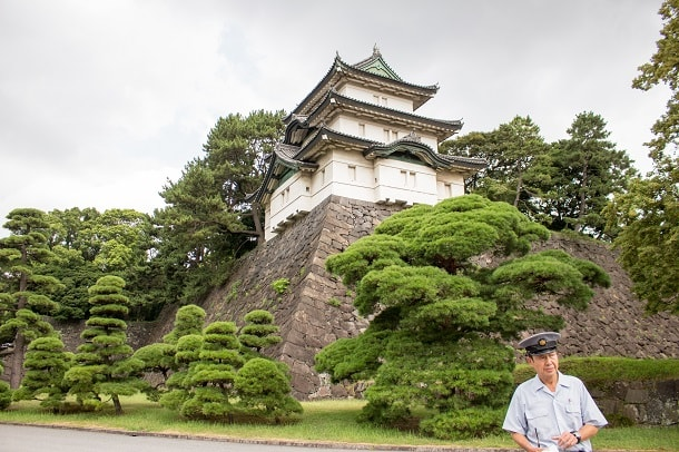 Fujimi-yagura Watchtower at the Imperial Palace in Tokyo