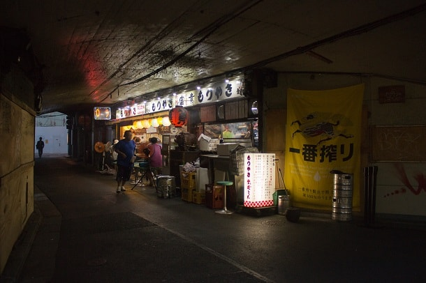 Restaurant in the tunnel under the train tracks