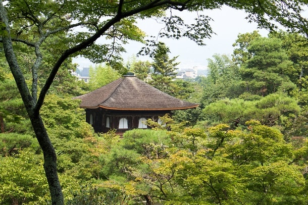 The roof top of Ginkakuji