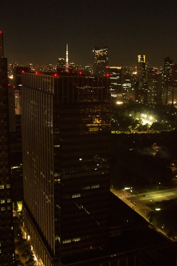 View from the Marunouchi Building at night