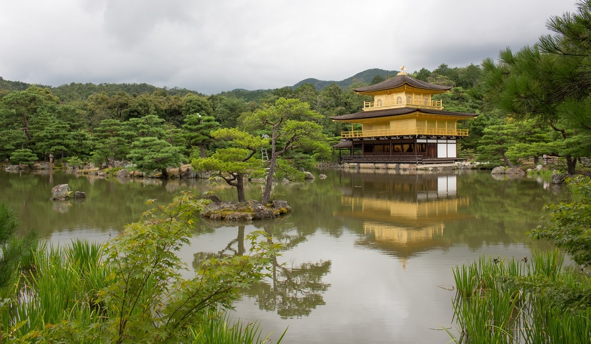 View of Kinkakuji - the Golden Pavillion