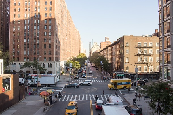 View of W 23rd Street