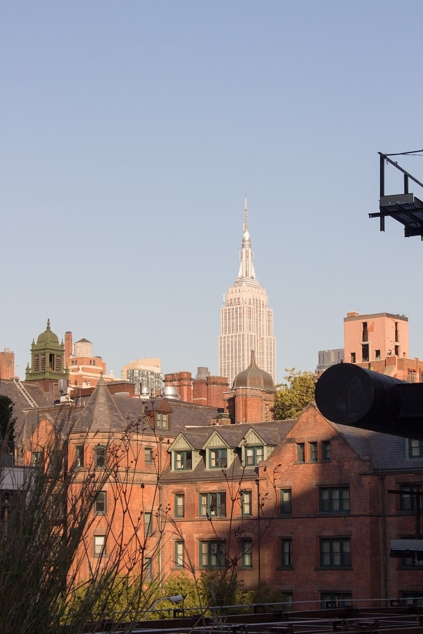 Empire State Building in the horizon