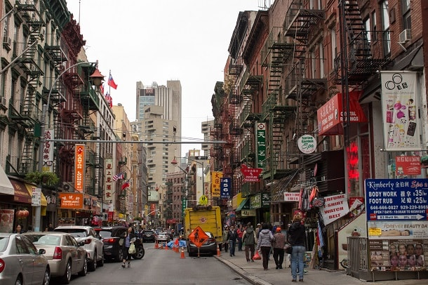 A grey morning in Chinatown