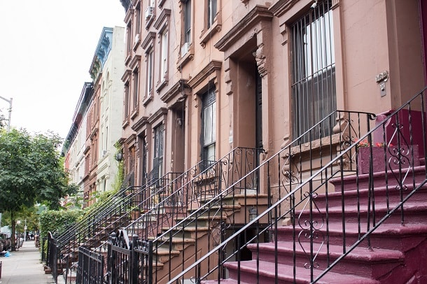Brownstone houses