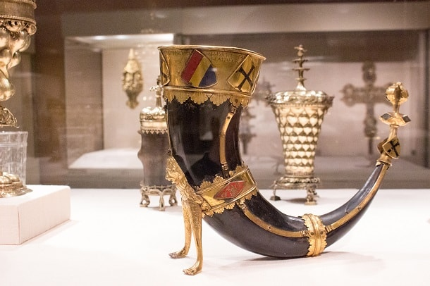 Drinking horn from Nuremberg, Germany 1436