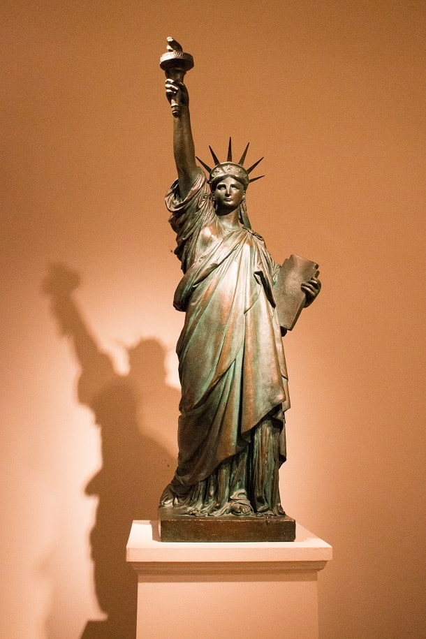 Early cast for the Statue of Liberty by Frédéric-Auguste Bartholdi