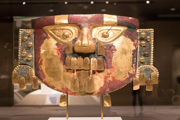Funerary mask from 10th-12th century, north coast of Peru