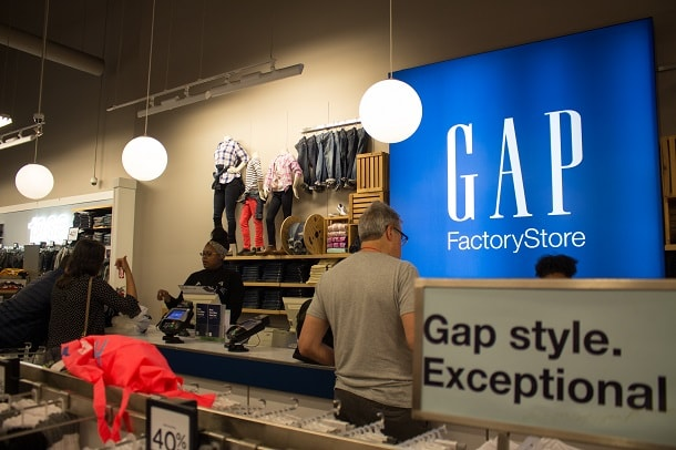 Shopping in the GAP