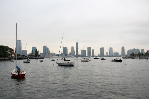 View of Hudson River and Jersey City