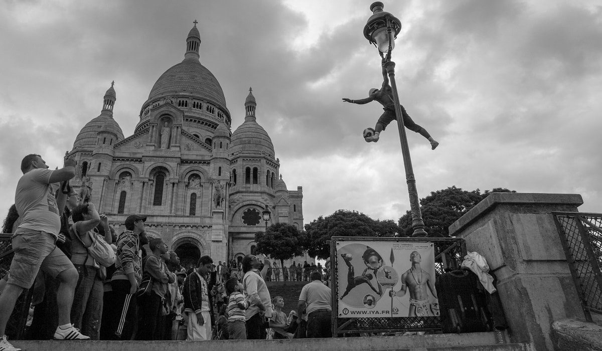 The football wizz of Montmartre