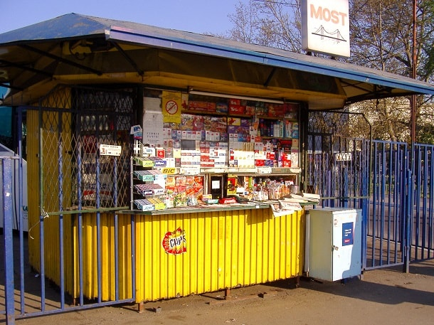 Kiosk near Belgrade Central Station