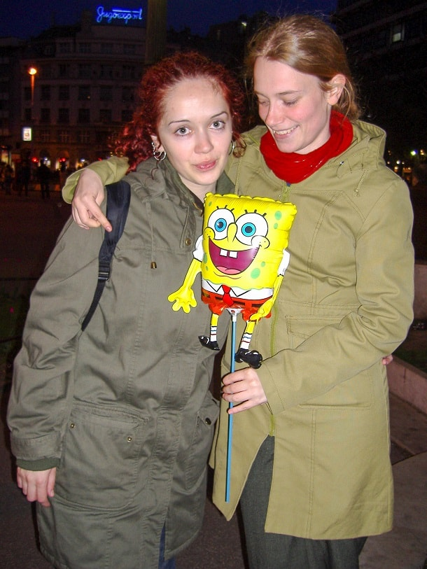 With Magdalena and Sponge Bob